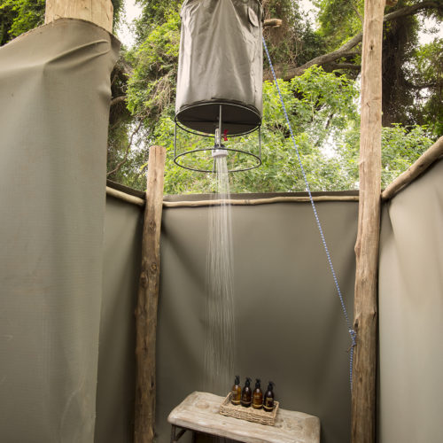 Pafuri walking trails outdoor shower