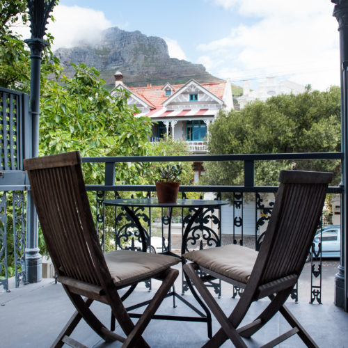 Cape Town guest house balcony Table Mountain views