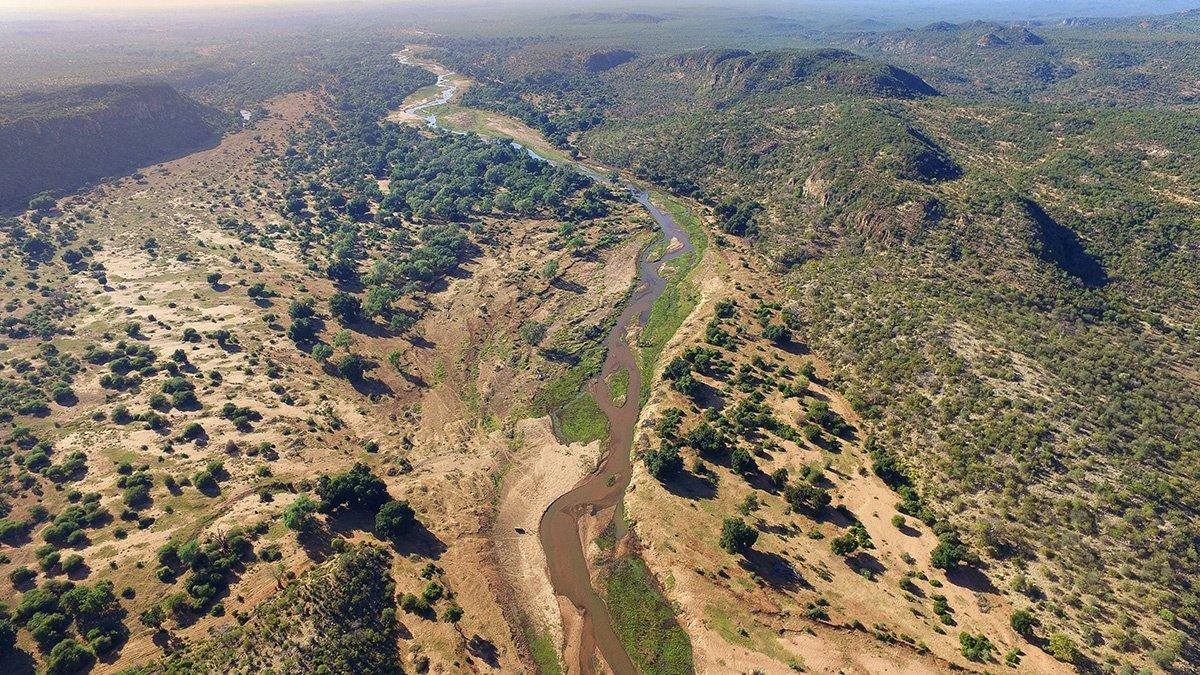 Northern Kruger Pafuri Aerial View