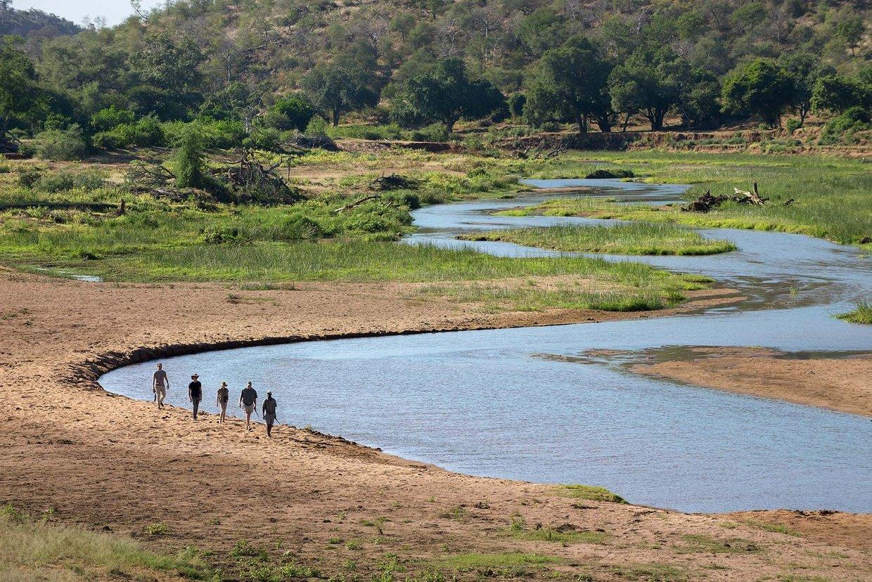 Guests on Northern Kruger Pafuri Walking Trail