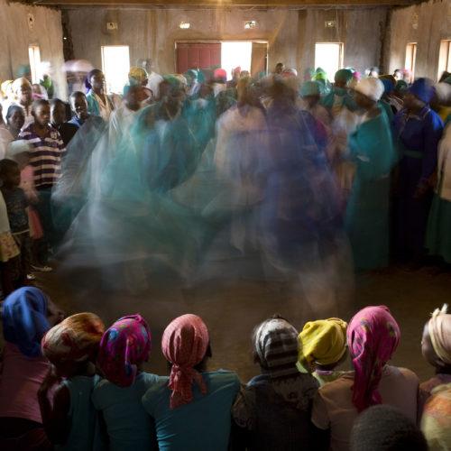 Zionist church members dancing
