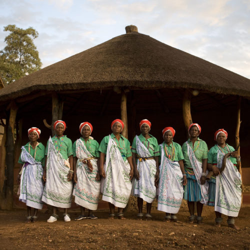 Pafuri community performer women in traditional outfits