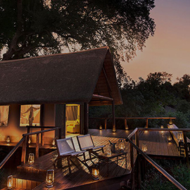 Pafuri tented camp luxury safari accommodation at sunset