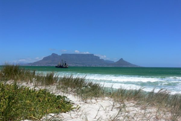 Table Mountain view from beach